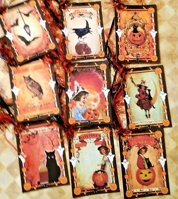 Magic Halloween  Pumpkin~9 Gift Hang Tags~Scrapbooking~Card Craft Making ](Making Halloween Cards)