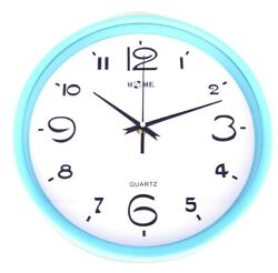 10.9 Elegant Round Shape Wall Clock For Home, Office, Blue