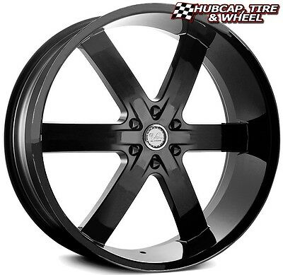 U2 55B Matte Solid Black 22 X9 5 Custom Wheels Rims  Set Of 4  Free Us Ship New