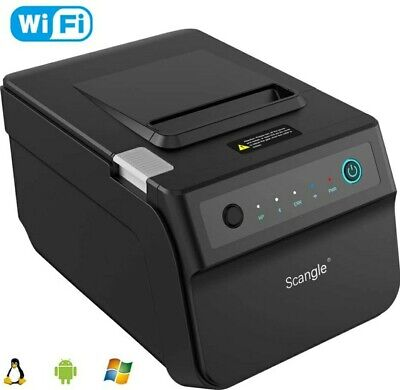 Scangle Sgt-88iv Desktop Usb Direct Thermal Pos Receipt Printer Wifi Bluetooth