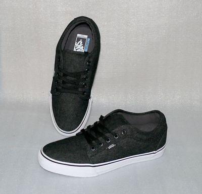 Vans Atwood Canvas Herren Schuhe Freizeit Sneaker 42 US9 Grau Schwarz Weiß LC025 (Grau Schwarze Vans Schuhe)