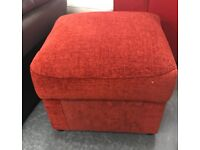 Fabric storage Footstool pouffe