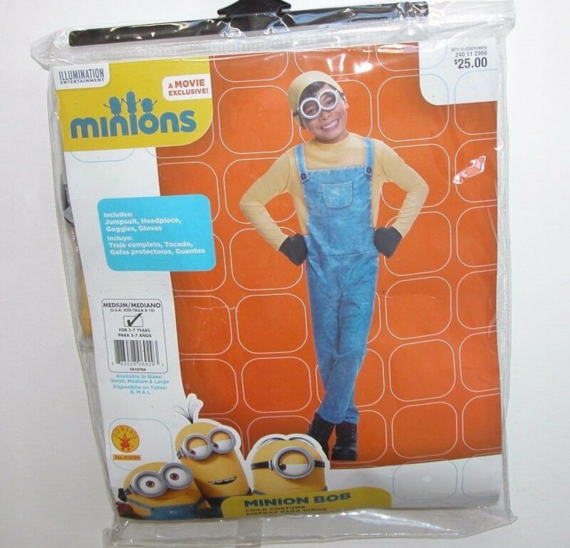 NWT NEW M 8-10 Halloween Costume Minion Bob