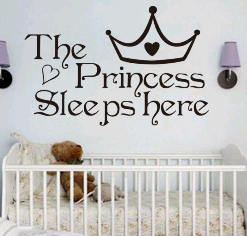 Princess wall decal sticker baby nursery girl bedroom home decor