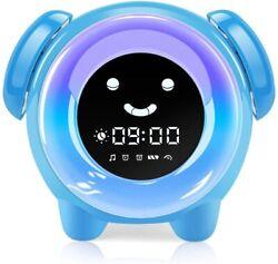 KNGUVTH Kids Alarm Clock, Sleep Training Kids Clock