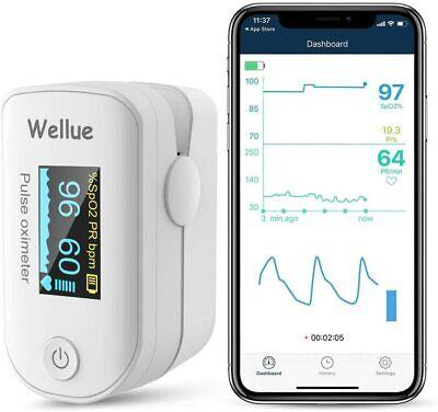 Wellue Pulse Bluetooth Oximeter Fingertip Blood Oxygen Monitor Fs20f Digital