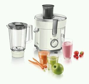 Philips-Viva-HR1845-33-2-in-1-Fruit-amp-Vegetable-Juicer-and-Blender-White-New