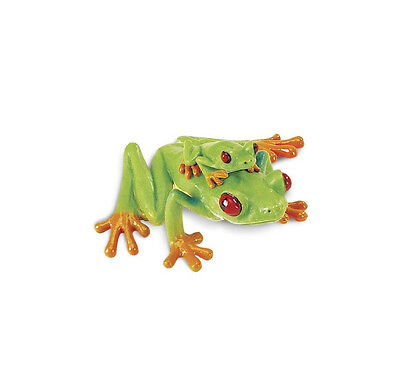 RED EYED TREE FROG With BABY 100120 ~ NEW for 2017  FREE SHIP/USA w/ $25+ SAFARI Red Tree Frog