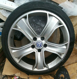 "X4 20"" STORMER ALLOY WHEELS OFF A VW T5 TRANSPORTER 20 INCH"