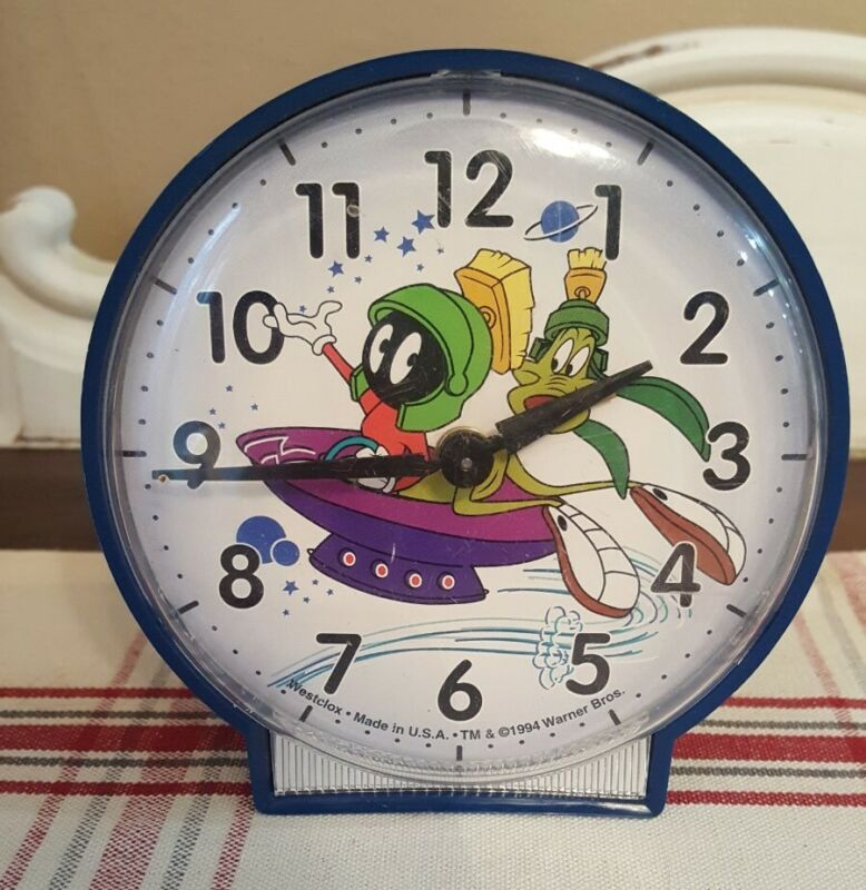 VINTAGE 1994  MARVIN THE MARTIAN ALARM CLOCK WESTCLOX WARNER BROTHERS WORKS