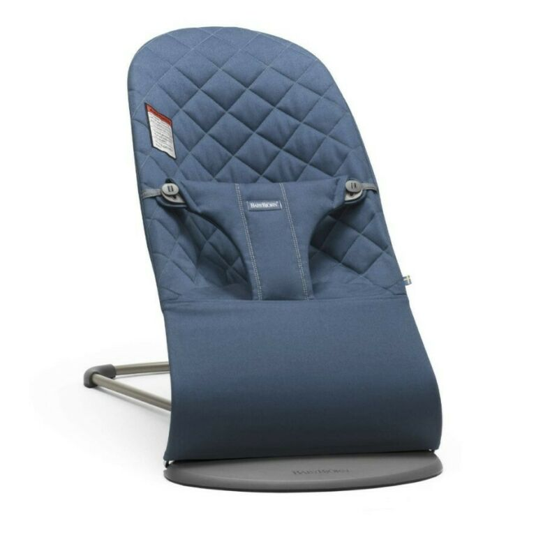NEW Baby Bjorn Fabric Seat Cover For Bouncer - Midnight Blue Quilted