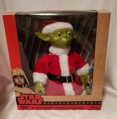 Disney Star Wars Yoda Christmas Tree Topper Decor Kurt S. Adler NIB