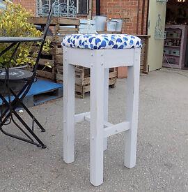 Painted shabby chic stool