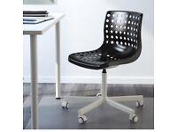 Swivel chair office chair stylish black white designer