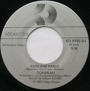 CORBEAU-Marjo-Song-and-dance-Maladie-d-039-amour-PROMO-1982-Canada-QUEBEC-ROCK-45