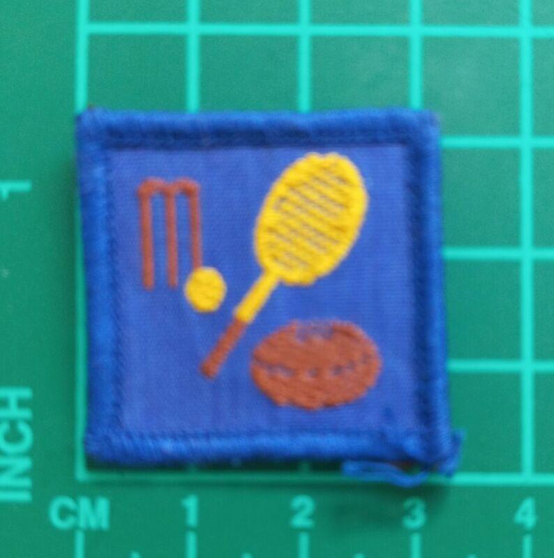 Older System Australian Scout Merit Badge -  Blue  Sport
