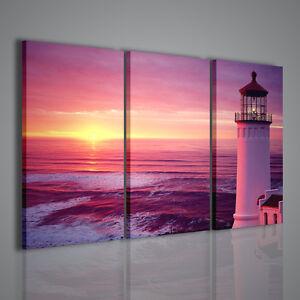 Quadri moderni lighthouse ii quadro moderno paesaggio faro - Quadri per casa mare ...