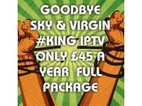 KING TV TOP QUALITY IIPPTTVV , #NO1 UK £45 A YEAR