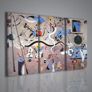 Quadri moderni joan miro 39 viii stampa su tela di pittori for Pittori astratti moderni