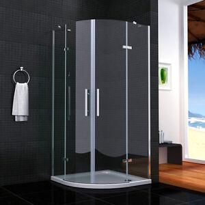 viertelkreis duschkabine doppel faltt r duscht r echtglas. Black Bedroom Furniture Sets. Home Design Ideas