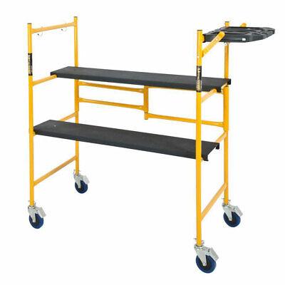 4 Ft Metaltech Portable Mini Rolling Scaffold Folding Steel Scaffolding Platform