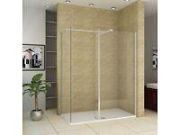 Aica Bathrooms Walk in shower enclosure Wet room screen
