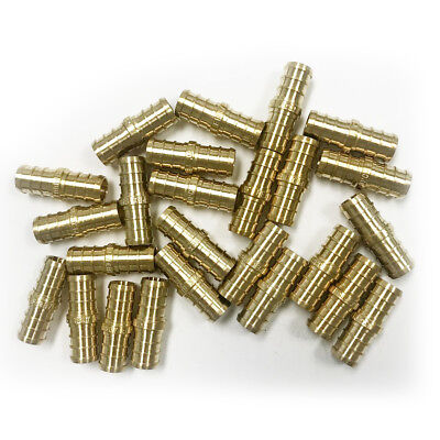 25 Pcs 12 Pex Straight Coupling - Brass Crimp Fitting Lead Free