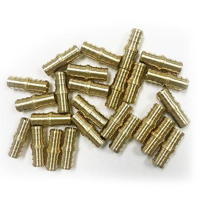 25 Pcs 12 Pex Straight Coupling - Brass Crimp Fitting Lead Free