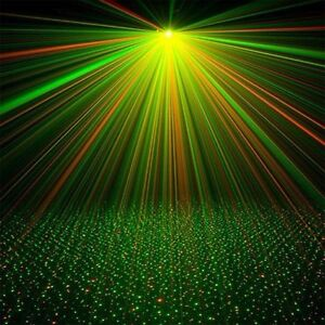Star Laser Projektor Sternen Shower Motion grün/rot + Fernbedienung NEU & OVP