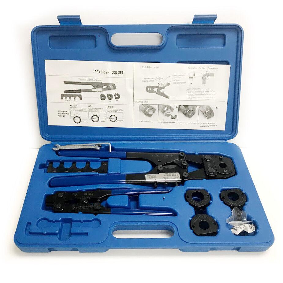 """PEX Crimp Crimper Tool Kit with Decrimper for Pex Pipe  3/8"""""""