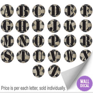 Name-Letters-Alphabet-Wall-Stickers-Initial-Decals-Boys-Sports-Decor-Soccer-Ball