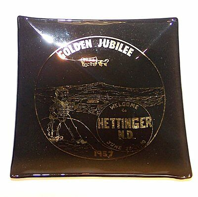 1957 Vintage Hettinger North Dakota N.D. Golden Jubilee Centennial Ashtray Ofr