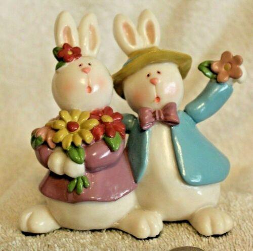 Easter bunnies figurine