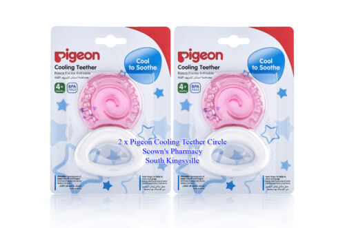 2 x Pigeon Cooling Teether Circle - Perfect Thickness For Baby