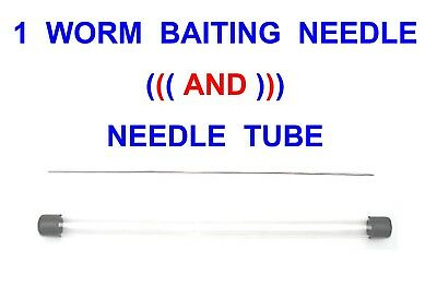 1 STD WORM BAITING NEEDLE+TUBE FOR LUG WORM RAG WORM SEA FISHING BAIT CLIP RIGS