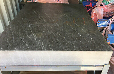 36 X 48 X 6 Precision Granite Surface Plate With Rolling Steel Stand