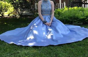 SELLING: Alyce Paris prom dress in Light Blue