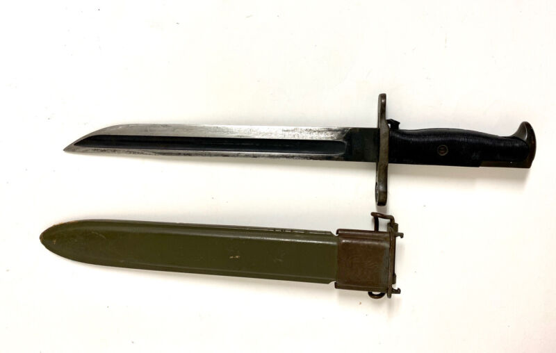 WWI SA 1908 Springfield US Bayonet MODIFIED M1 Garand+ Scabbard / Stamped 317252