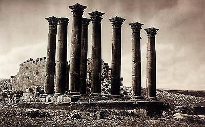 1925 Jerash Gerasa Temple Ruins Jordan Photogravure Archaeology Art Print