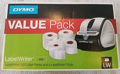 - Dymo Label writer 450 LW450 Bundle pack comes with 7 rolls of labels.
