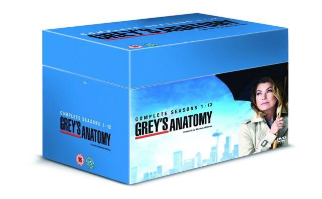 Grey's Anatomy Complete Series 1-12 1 2 3 4 5 6 7 8 9 10 11 12 New DVD Box Set