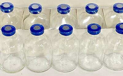 50ml Serum Vial Clear 5pk Blue Seal