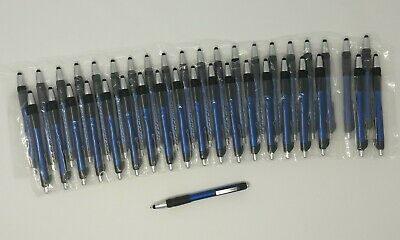 40 Count Lot New Indigo Blue Retractable Maxglide Click Metallic Stylus Hub Pen
