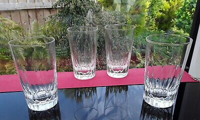 Set of 4 HEAVY VINTAGE GIN & tonic GLASSES Chateau Tumbler Whiskey BAILEYS WATER
