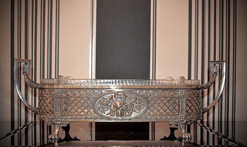 Magnificent WMF Silver Plated Art Nouveau Jardiniere Centre Piece,Original Glass