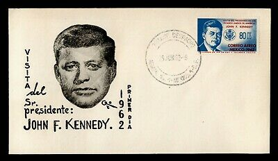 DR WHO 1962 MEXICO FDC JFK AIRMAIL  C244711