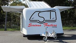 Motor Cycle / Camper Fiber Glass Enclosed Trailer - GoKarts Southport Gold Coast City Preview