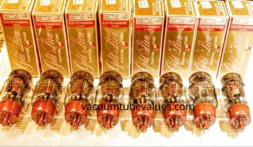 OCTET  Factory Platinum Matched Genalex Gold Lion KT66 KT-66 6L6 Tube 24hr Burn