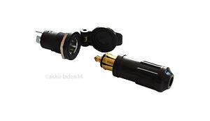 12V KFZ Norm Steckdose DIN ISO 4165 + passender Stecker mit Schraubkontakten