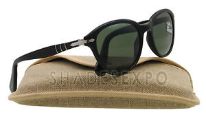 NEW Persol Sunglasses PO 3025/S BLACK 95/31 CAPRI 53MM